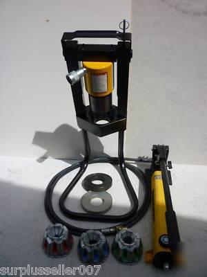 Enerpac Hand Pump Parker Karrykrimp Hydraulic Hose Crimper 5 Dies